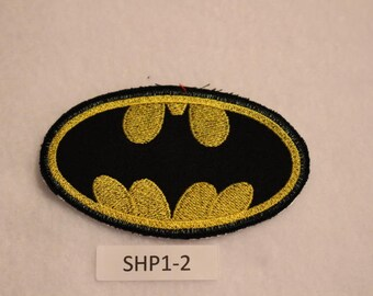 Embroidered Iron On Patch - Batman - Superhero - SHP1-2 - FREE SHIPPING in US