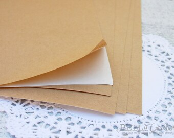 """Brown Kraft Sticker Sheets - Kraft Stickers sheets for your DIY projects 8.5"""" x 11"""""""