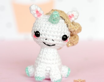 Amigurumi unicorn plush, Unicorn crochet, Unicorn amigurumi, Stuffed unicorn toy, Kawaii unicorn stuffed animal, Mini unicorn figurine