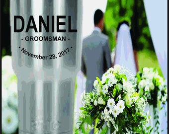 Wedding Party Custom Laser Engraved RTIC Tumblers