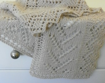 """Knitting Pattern for Lace Scarf """"Twigs and Diamonds"""" PDF download"""
