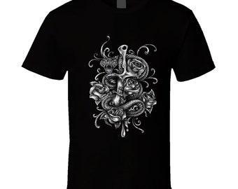 Dagger And Snake T Shirt