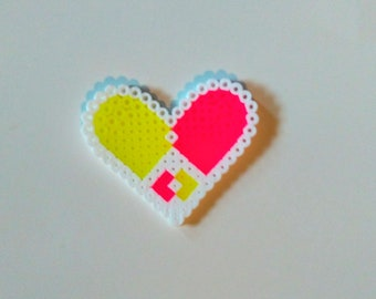 Peace Sign Hearts-Perler Creations