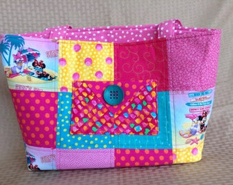 Summertime Fun Minnie Mouse tote bag