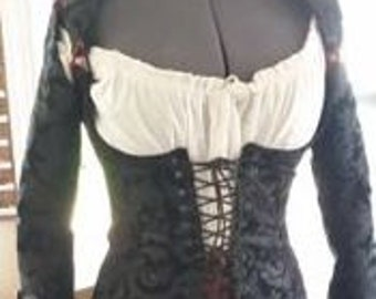 Ladies Corset Coat Pirate Steampunk Made to order
