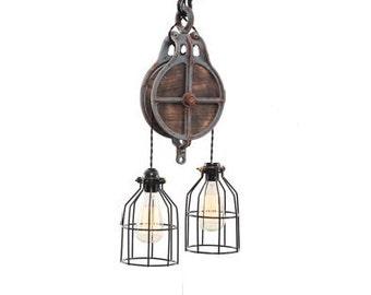 Lighting - Industrial Lighting - Steampunk Lighting - Industrial light - Bar Light - Industrial Chandelier - Ceiling light - Home Lighting