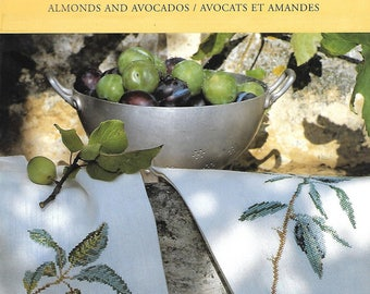 """Card """"Avocados and almond"""" cross stitch Embroidery"""