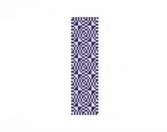 Optical Eggplant Cuff Bracelet - Loom or 1 Drop Even Peyote Bead Pattern