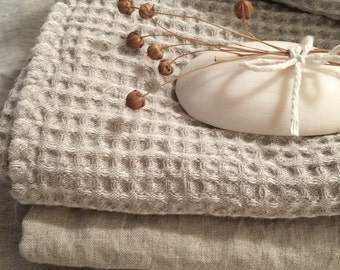 """Linen towel,  size 19x39"""",  Ideal for your hair"""