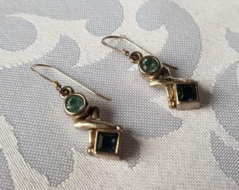 Sterling Silver Blue Crystal Earrings, Sterling Silver Earrings, Blue Crystal Earrings, Earrings