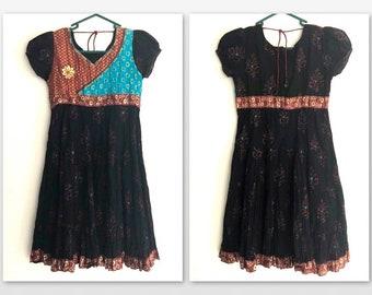 Vintage Indian Mini Dress Sz XS