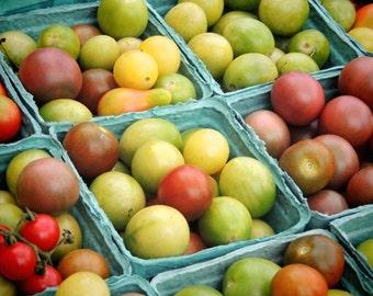 Heirloom Tomatoes - Nature Food Photograph - Kitchen Art - Wall Decor - Tomato Photograph - New York Farmer's Market Art