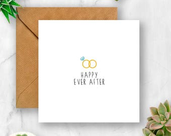 Happy Ever After Card, Engagement Card, Card for Engagement, Wedding Card, Wedding Day Card, Card for Wedding, Getting Married Card