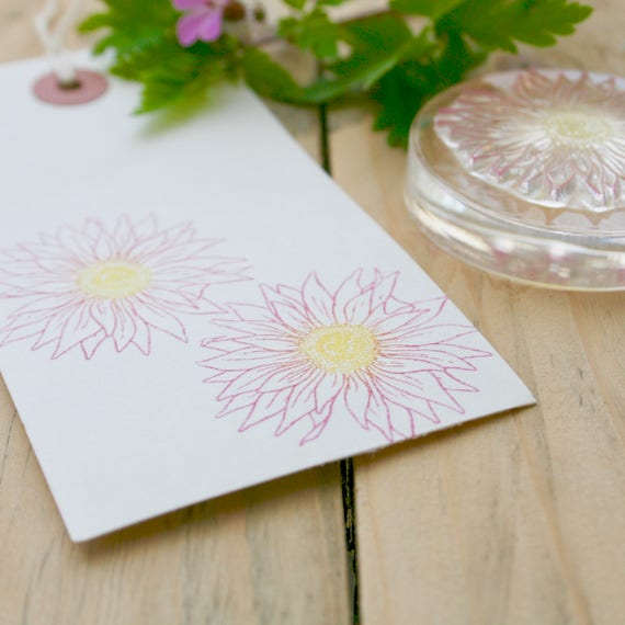 Gerbera Rubber Stamp - Flower Clear Rubber Stamp - Gerbera Flower - Gerbera Stamp - Rubber stamp - Gerbera - Little Stamp Store - Floral