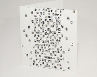 Black Mosaic Card
