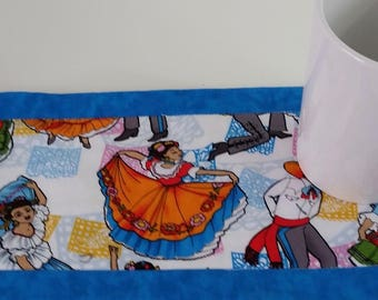 Mexican Table Mat, Candle Mat, Table Linen,  Home Decor, Home Textile