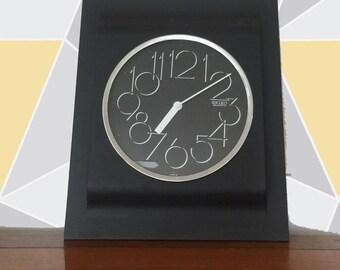 Vintage 80's Postmodern Memphis Seiko Wall Clock