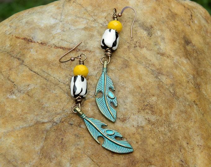 Featured listing image: Patina Charm Boho Earrings