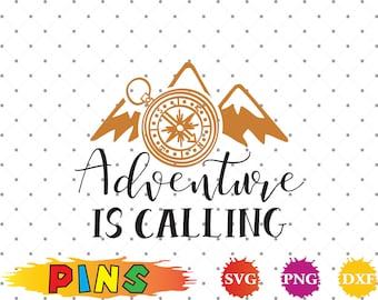 Adventure is calling svg,dxf,png/Adventure is calling clipart  for Design,Print,Silhouette, Cricut