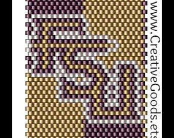 Pen Cover Pattern - FSU - Gold and Garnet - Peyote Beading Pattern