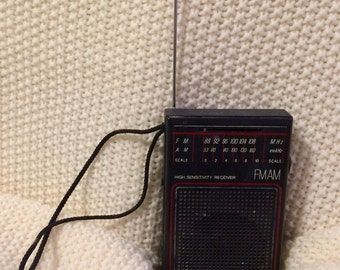 Panasonic RF-502 High Sensitivity FM-AM Transistor Radio -1970s