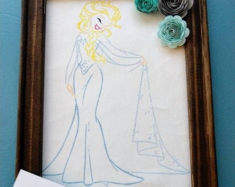Elsa Canvas Painting
