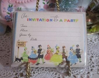 Vintage Art Deco Party Invitations-Unused