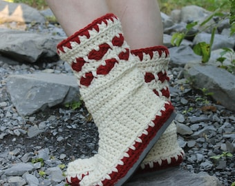 Crochet Boots Pattern------ HEART BOOTS------I can now offer my published pattern to you all!! Street Boots