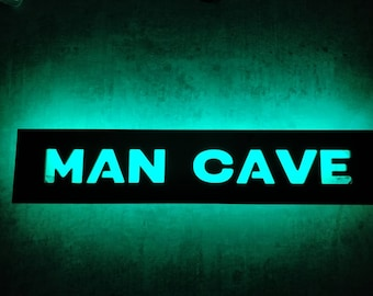 Man Cave Led Sign : Magic brewing company black led maryville man cave signs