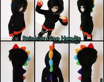 Custom MSD Rainbow Dino Hoodie
