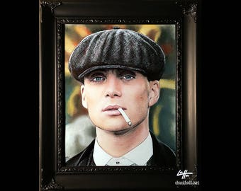 Thomas Shelby - Original Drawing - Peaky Blinders Cillian Murphy Gangster England Violence Crime Drama Pop Art War Lowbrow Art British