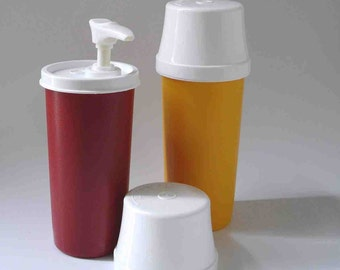 Vintage Ketchup and Mustard Dispensers by Tupperware FREE SHIPPING