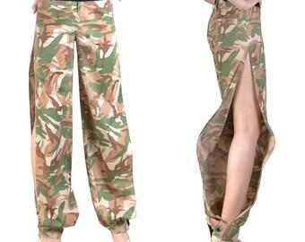 Split harem pants cotton Camouflage Original (M85)