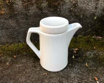 Mid-Century Modern Fairwood Schonwald Germany White Porcelain Creamer with Lid