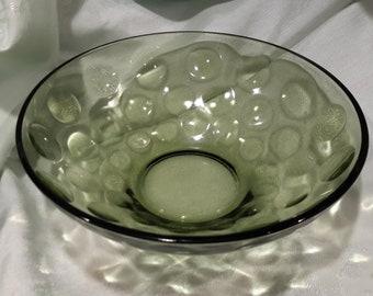 9 x 3 green glass bowl