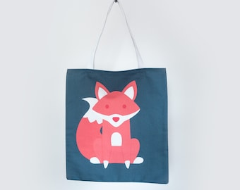 Fitz the Fox Tote Bag - Named after F. Scott Fitzgerald