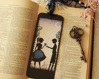 Bookmark - Ilustrated bookmark - Lovers - Miss Shadow - Le rendez-vous