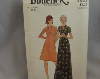 Vintage Butterick 3901 Women's Size 38-40 Dress in Two Lengths  Factory Fold