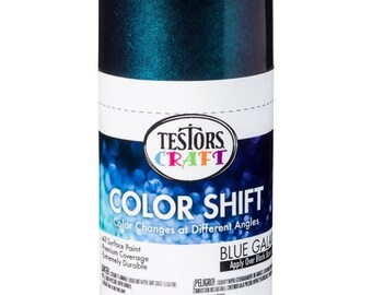 Testors Color Shift spray paint, 3oz can, Blue Galaxy