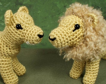 PDF Lion and Lioness - two amigurumi CROCHET PATTERNS