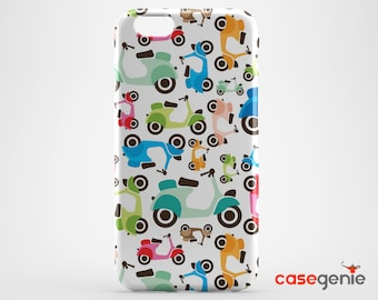 Colourful Retro Scooter Pattern Case for iPhone X 8 PLUS 7 6 6s 5 5s 5c SE  Samsung Galaxy S9 S8 S7 S6 Edge S5 Note