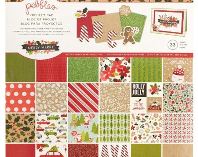 Merry merry 12x12 paper pad