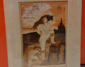1979 Native American Print/ A. Betty Allen/ Numbered