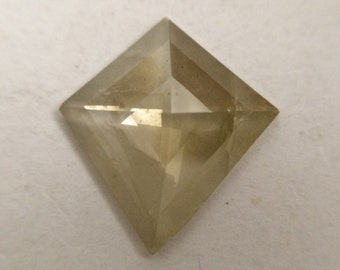 2.22 Ct 13.70 mm X 12.60 mm Yellowish Grey geometric shape Natural Loose Diamond, Kite Shape Superb Quality Diamond Cut Use For Jewelry