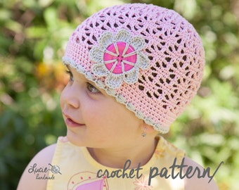 Crochet Hat PATTERN No.58 - Summer Hat Crochet Pattern, Spring hat