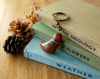 By the Shed Pheasant Game Bird Keyring - Brown - Birds, Grouse, Famous - Gift, Present - Good Life - Countryside, Game Shooting - Charm