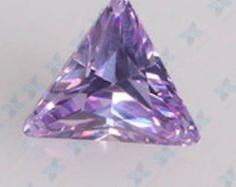 Cubic Zirconia Lavender Triangle AAA Wholesale CZ Loose Stones (3x3mm - 10x10mm)
