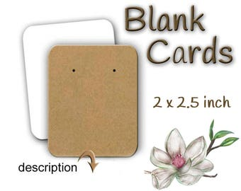 Blank Jewelry Cards,  Earring Cards, Necklace Cards, Earring Holder,  Display Cards, Jewelry Display