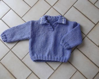 periwinkle color 6 months baby sweater