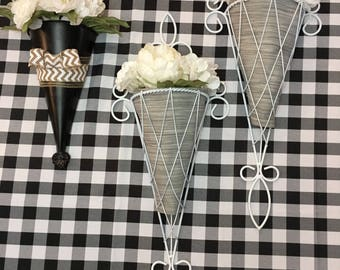 Metal Sconces with Flowers